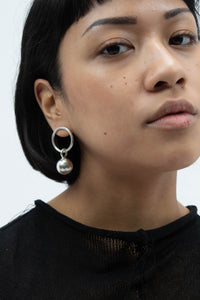Ball On Hoop Earrings