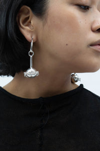 Ball With Chain Earrings