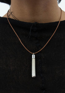 Clay Pipe Pendant Necklace