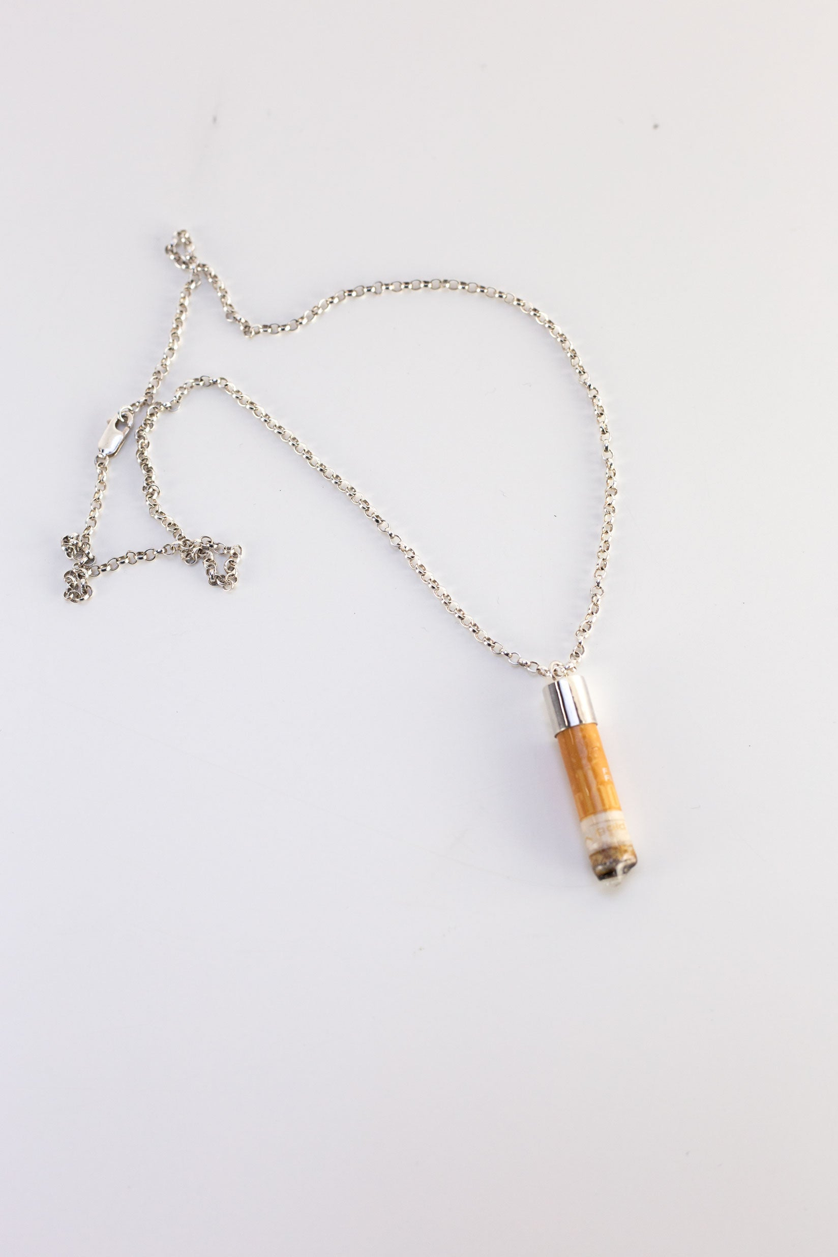 Cigarette Butt Pendant Chain