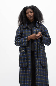 Quilted Plaid Coat-50m London