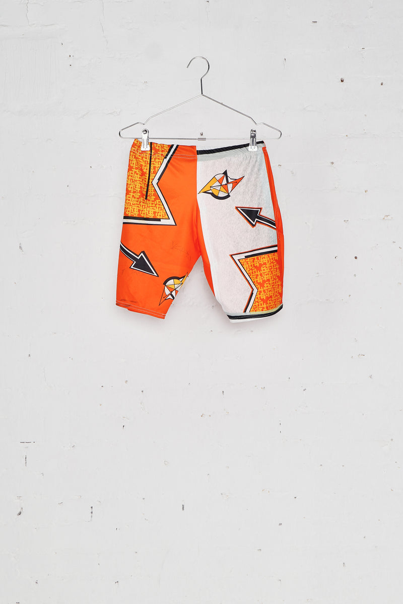 Orange Up-Cycled Cycling Shorts