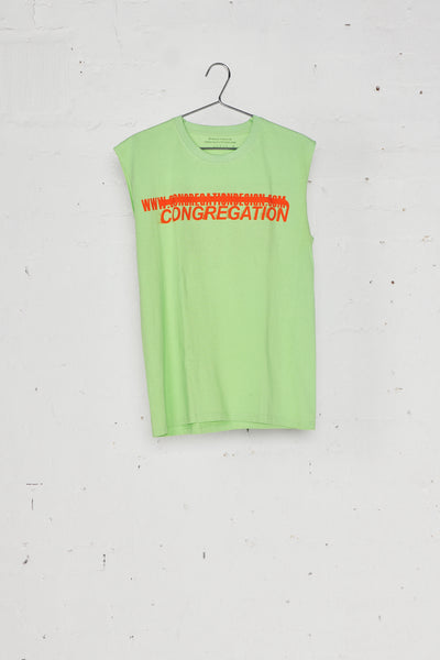 Congregation Green Sleeveless Top