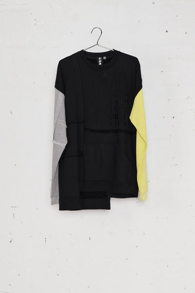 Chop And Sew Sweat Black