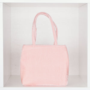 Peach Crushed Velvet Little Bag