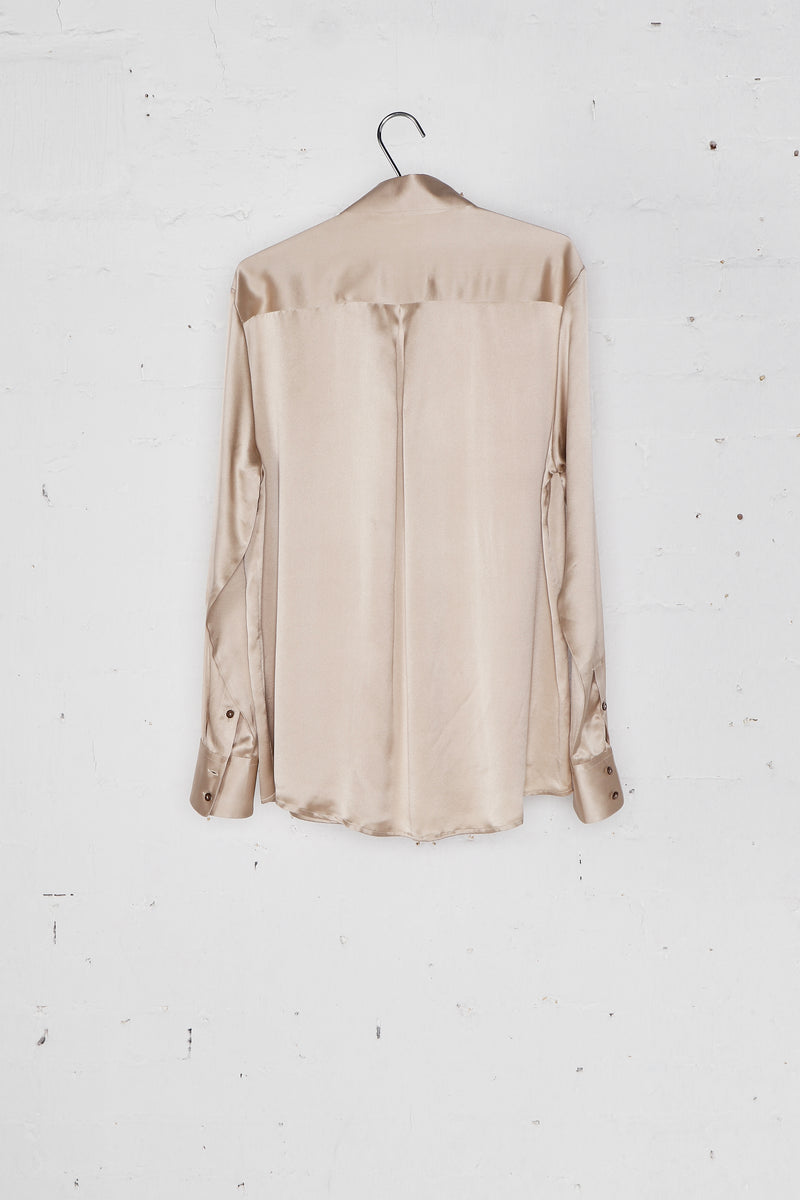 Silk Signature Shirt Beige
