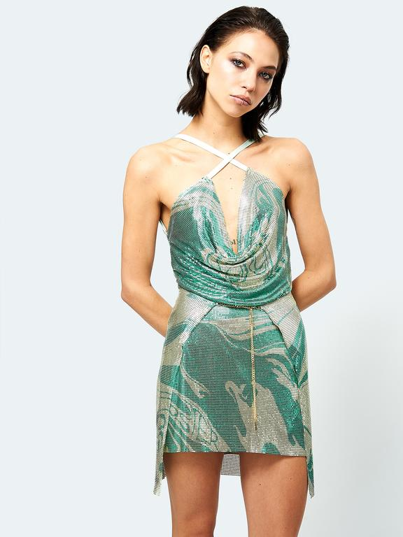 Adrianne Dress Printed Serpentine