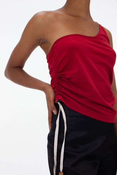 Red Ruched Vest