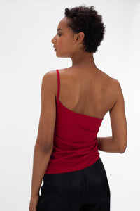 Red Ruched Vest-50m London