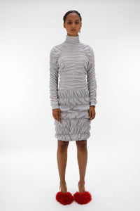 Grey Ruched Dress