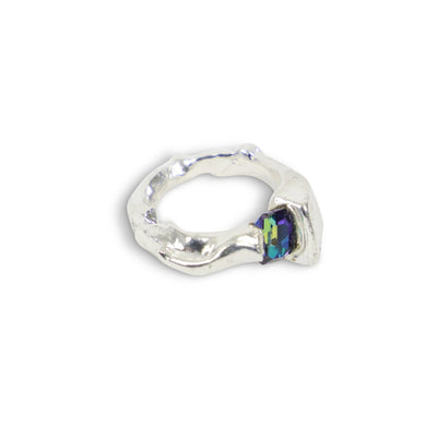 Silver Ring with Synthetic Stone