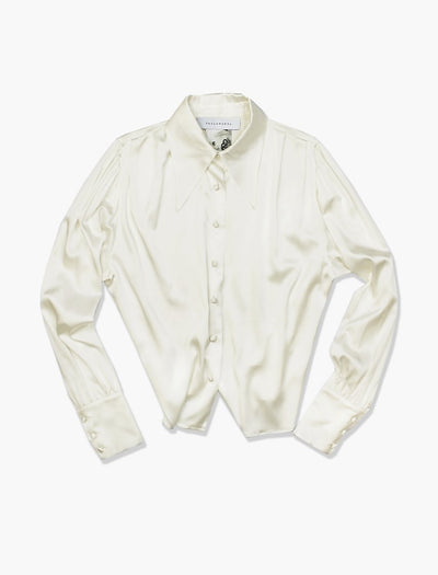 Silk Antique Shirt Champagne