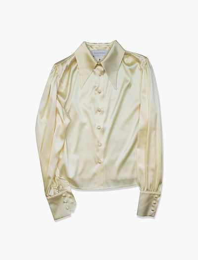 Silk Antique Shirt Yellow