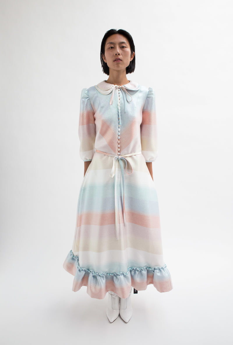 Pastel Romantic Rainbow Alice Dress-50m London