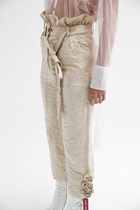 Metallic Brocade Trousers with Belt-50m London