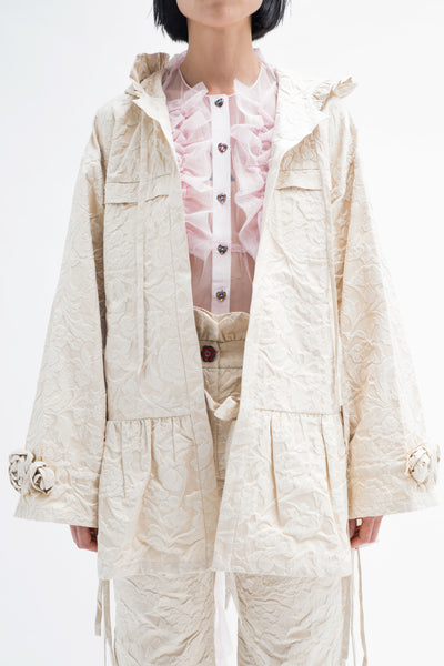 Metallic Brocade Parka-50m London
