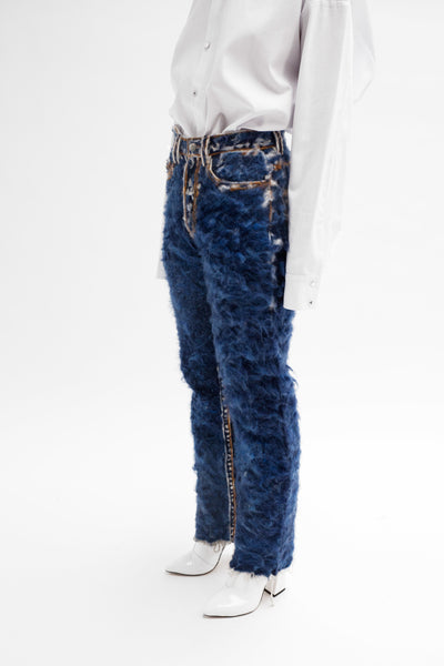 Hand Felted Denim Jeans