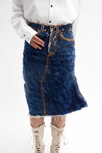 Copy of Hand Felted Denim Skirt-50m London