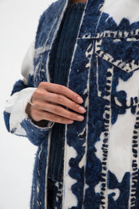 Hand Felted Denim Cow Coat-50m London