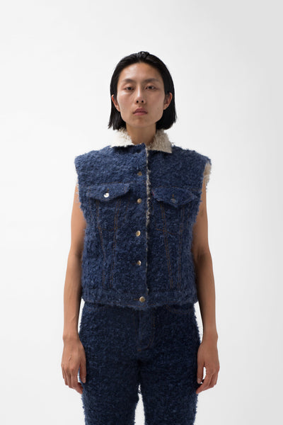 Handwoven Mohair Sheepskin Jacket