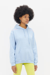 Hoodie in Baby Blue with Pink Embroidery-50m London