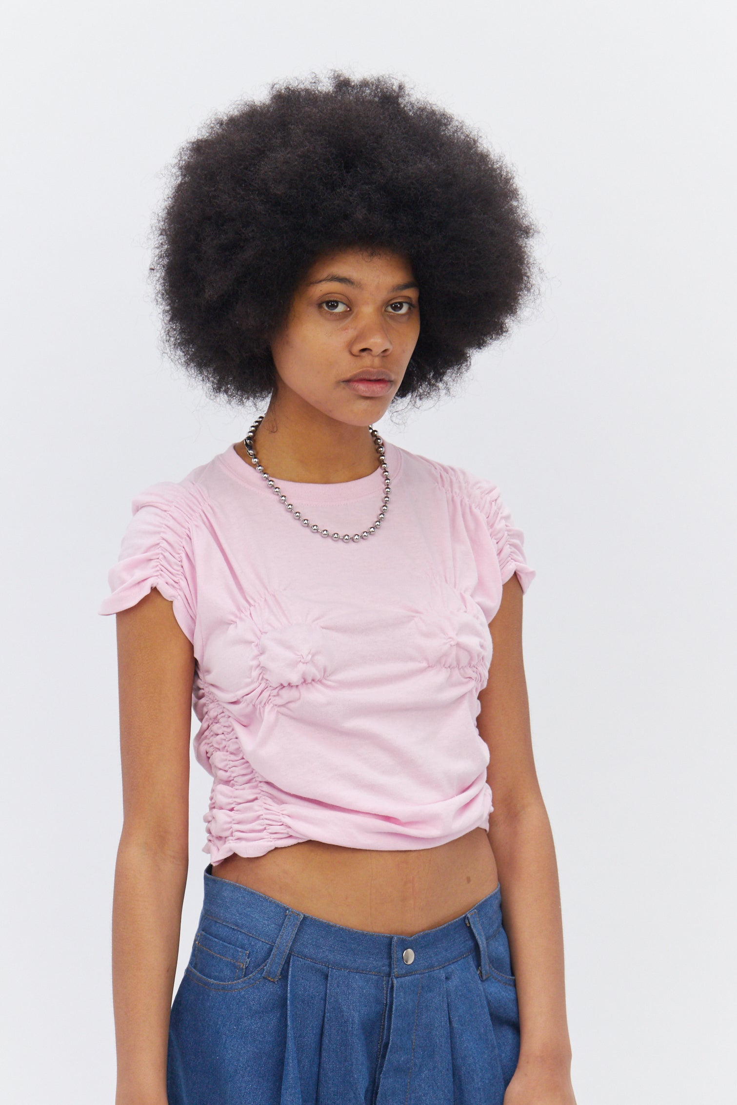 Pink Ruched T-Shirt-50m London