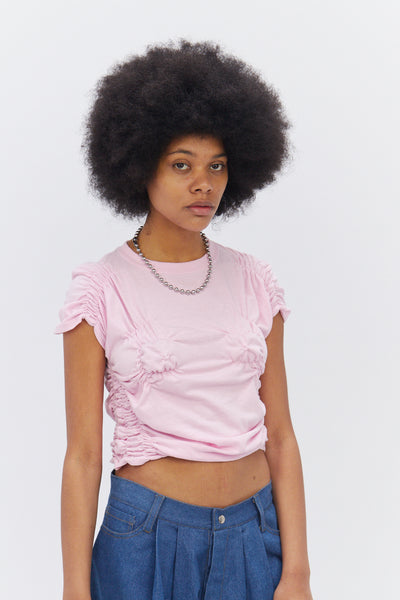 Pink Ruched T-Shirt