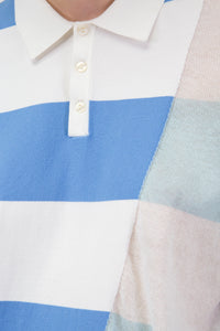 Deconstructed Stripe Polo Shirt