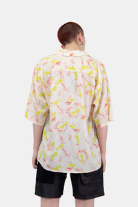 Silk Floral Print Hawaiian Shirt