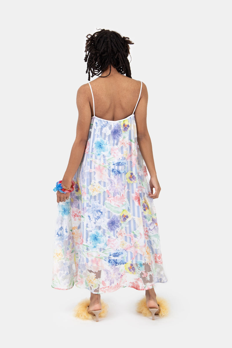 Floral Devore Layered Dress