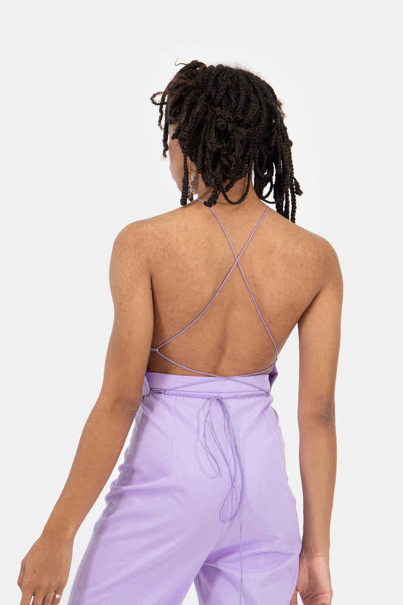 Triangle Top Lilac Cotton