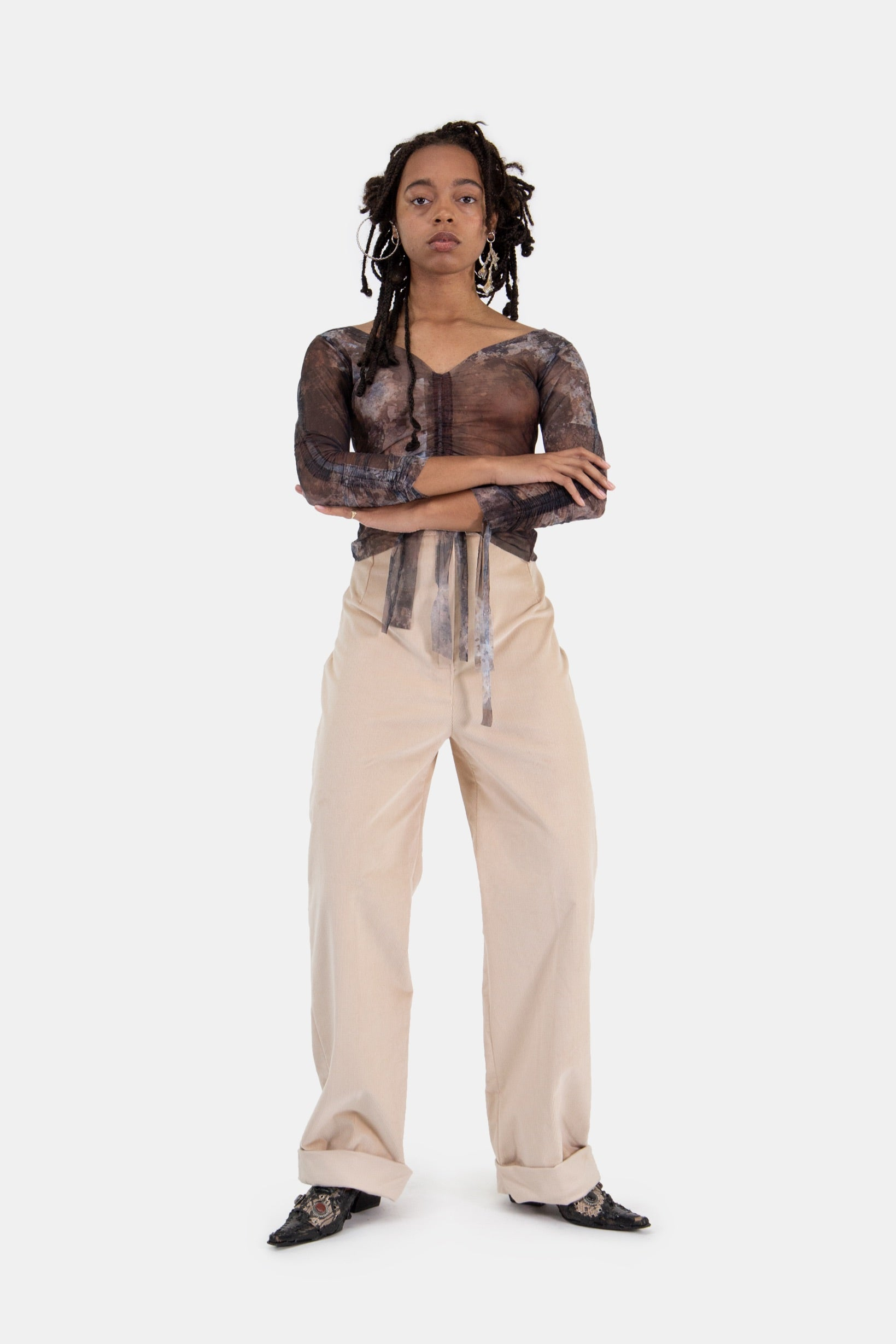Child Pants Beige Corduroy