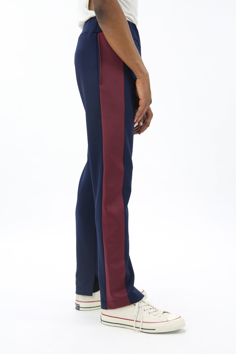 Side Panel Joggers Navy/Burgundy
