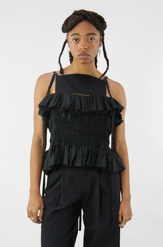 8m Pleated Top Black