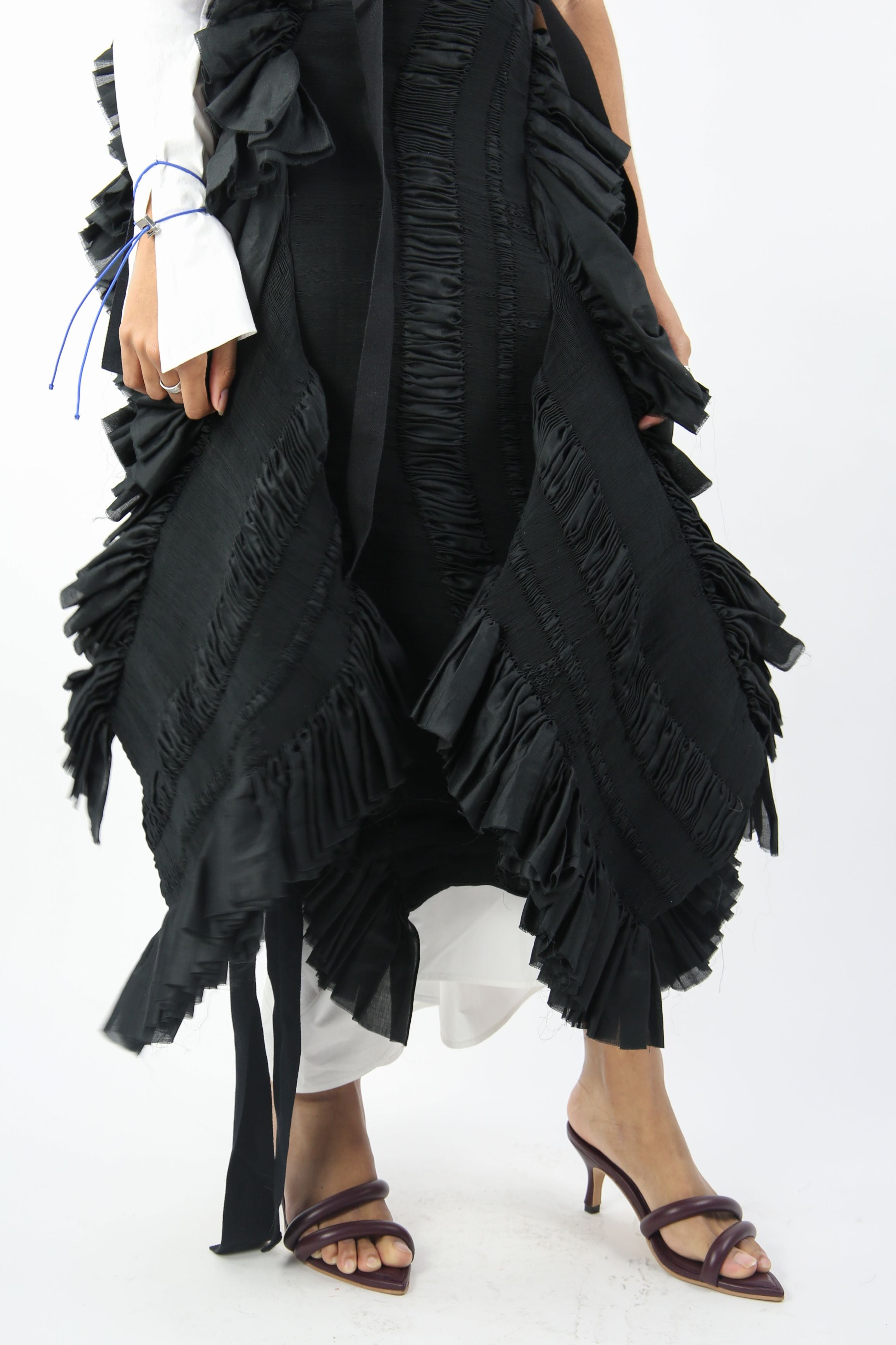Zapatista Pleated Skirt Black