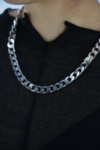 Thick Flat Pearl Chain-50m London
