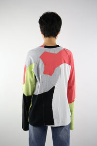 Upcycled One-off Long Sleeve T-shirt 27-50m London