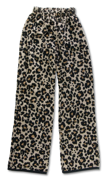 Leopard Terry Towelling Trousers