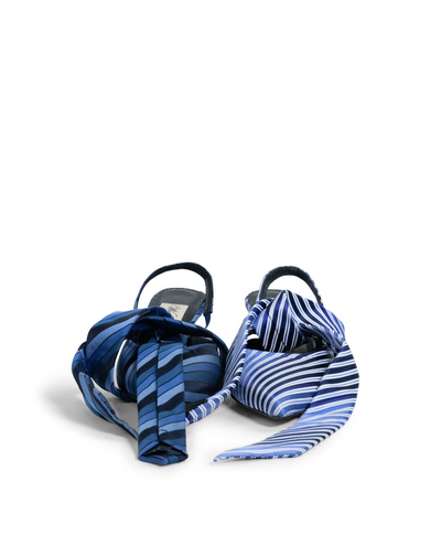 Tie Shoes in Blue EU39