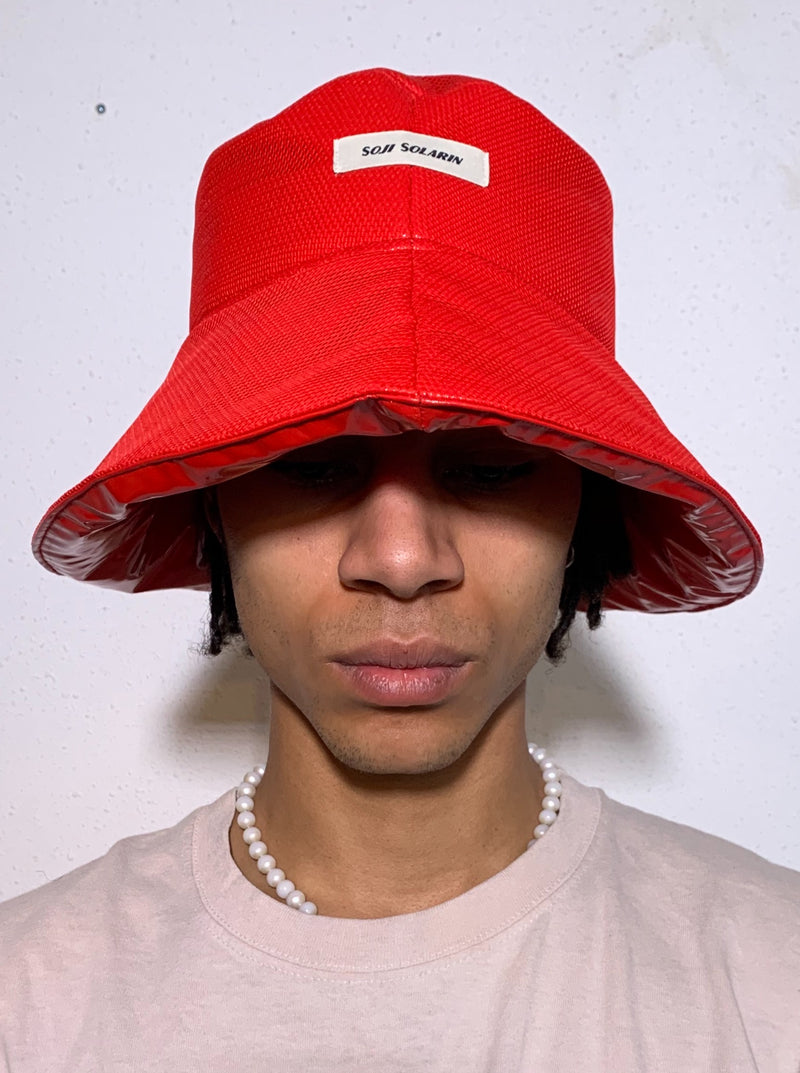 Red Bucket Hat-50m London