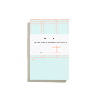 Pale Blue Grids Mini Notepad-50m London