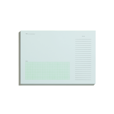 Pale Blue Desktop Notepad-50m London