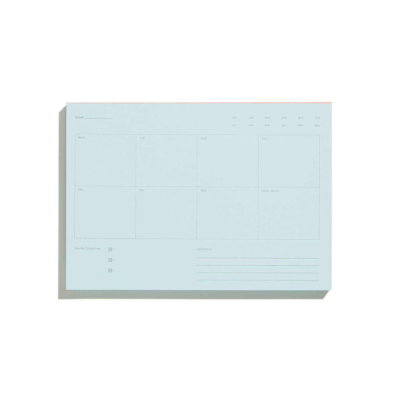 Pale Blue Weekly Notepad-50m London