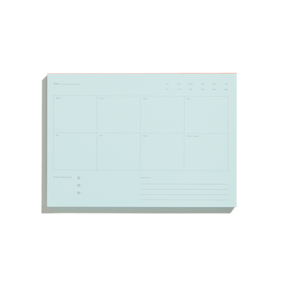 Pale Blue Weekly Notepad