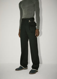 Trousers With Detachable Pocket Navy