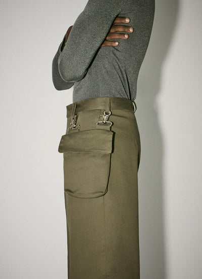 Trousers With Detachable Pocket Khaki-50m London