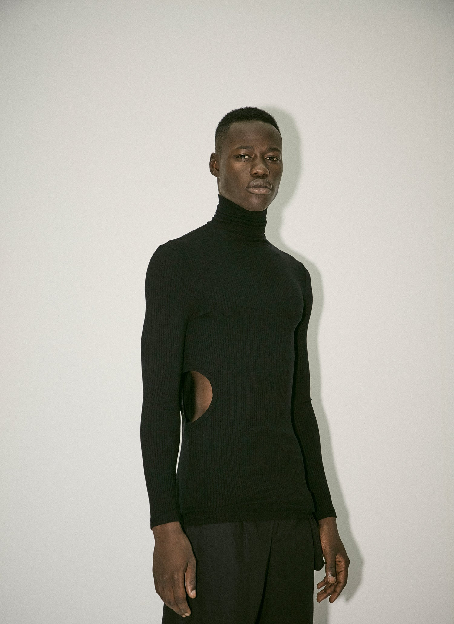 Black Turtleneck Top - 50m