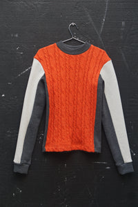 Panelled Cable Sweater-50m London