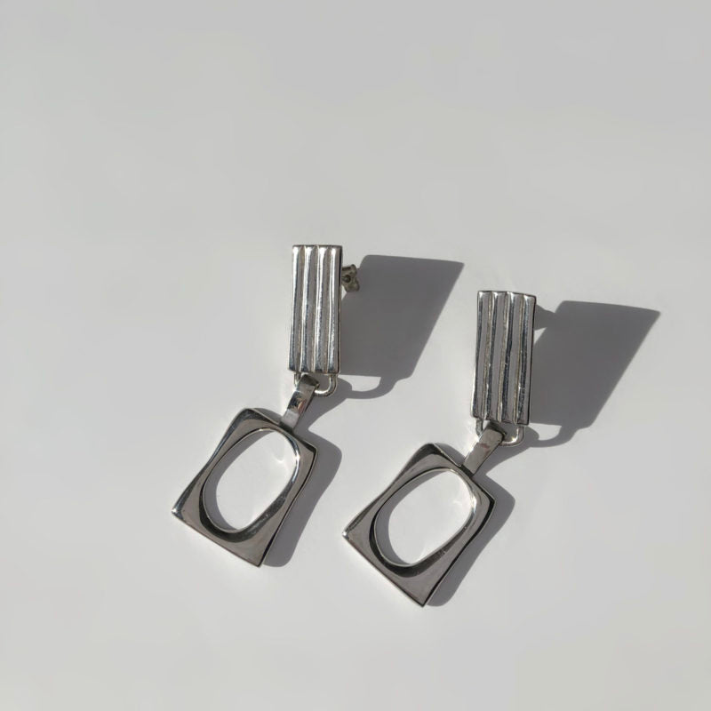 Duet Earrings Silver-50m London
