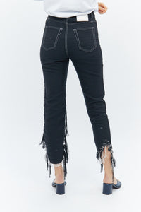 Handwoven Pulled Jeans-50m London